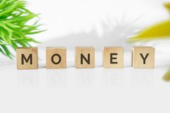 MONEY word on wood blocks. Business and finance concept Royalty Free Stock Image
