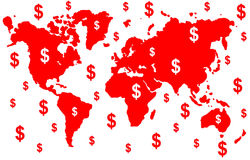 Money world Royalty Free Stock Image