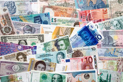 Money of the world Royalty Free Stock Photo