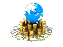 Money in the world Stock Photography
