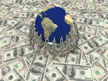 The money in the world. Economy, and business Royalty Free Stock Photos