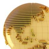 Money world, close-up on Asia Stock Photos