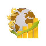 Money of world. Icon  illustration graphic design Stock Photography