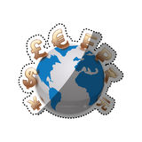 Money of world. Icon  illustration graphic design Royalty Free Stock Photos