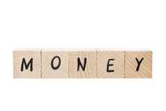 Money Written With Wooden Blocks. Royalty Free Stock Image