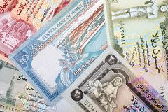 Money from Yemen, a background Royalty Free Stock Photos