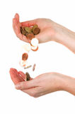 Money In Your Hands Royalty Free Stock Photography