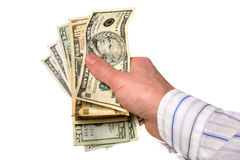 Money in your hands Stock Photos
