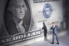 Money on your mind? stock photography
