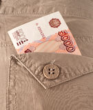 Money in your pocket Royalty Free Stock Images
