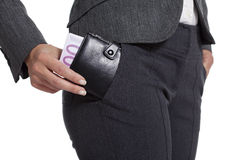 Money in your pocket Stock Image