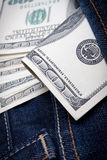 Money in your pocket Royalty Free Stock Photos