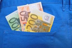 Money in your pocket Royalty Free Stock Photography