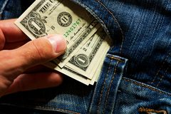 Money in your pocket Stock Photography