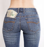 Money in your pockets Royalty Free Stock Photos