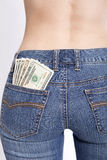 Money in your pockets Stock Photography