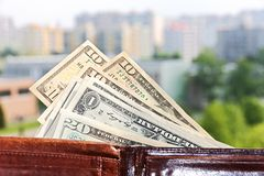 Money in your wallet Royalty Free Stock Images