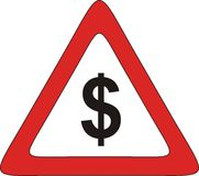 Money zone. Sign, icon, logo. To use on website or store royalty free illustration