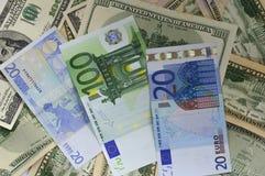 Moneyas een achtergrond Stock Afbeelding