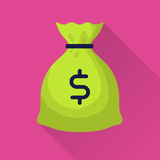 Moneybag with dollar sign Royalty Free Stock Images