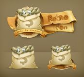 Moneybags vector icons Royalty Free Stock Photos