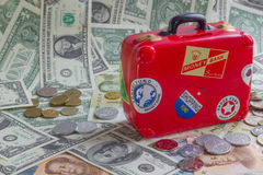 Moneybank rojo Foto de archivo libre de regalías