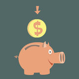 Moneybox για τα χρήματα Στοκ φωτογραφία με δικαίωμα ελεύθερης χρήσης