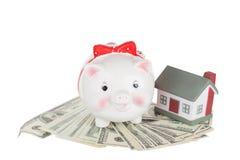 Moneybox свиньи Стоковое фото RF