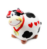 Moneybox. Money box cow on white background Royalty Free Stock Image