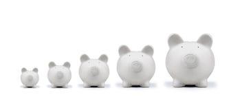 Moneybox. American pig money box isolated Stock Photography