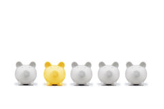 Moneybox. American pig money box isolated Royalty Free Stock Images