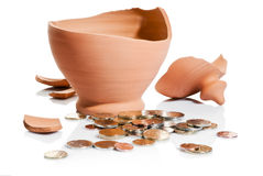 Moneybox crash Stock Photography