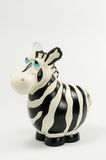 Moneybox da zebra Fotos de Stock