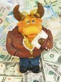 Moneybox de Bull fotografía de archivo