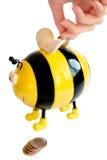 Moneybox de la abeja Imagen de archivo