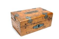 Moneybox de madera Fotografía de archivo