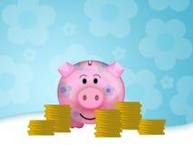 Moneybox de porc Image libre de droits