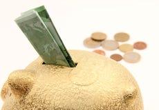 Moneybox del cerdo Fotografía de archivo libre de regalías