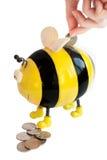Moneybox dell'ape immagini stock