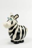 Moneybox della zebra Fotografie Stock