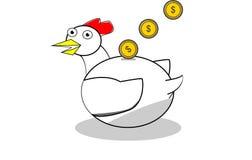 Moneybox deu forma à galinha Fotografia de Stock Royalty Free