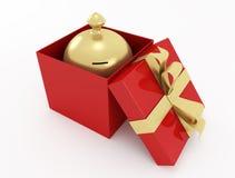 Moneybox dorato Immagini Stock