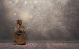 Moneybox in een vorm van een zak stock fotografie