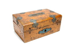 Moneybox en bois Photographie stock