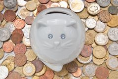 Moneybox in the form of a cat. Stock Photo