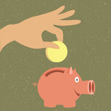 Moneybox för pengar Arkivbild