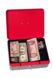 Moneybox llenado fotografía de archivo libre de regalías