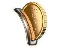 Moneybox mit Dollarmünze Stockfotografie