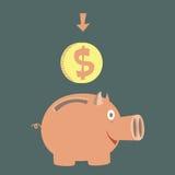 Moneybox para o dinheiro Fotografia de Stock Royalty Free