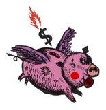 Moneybox pig Fotografering för Bildbyråer